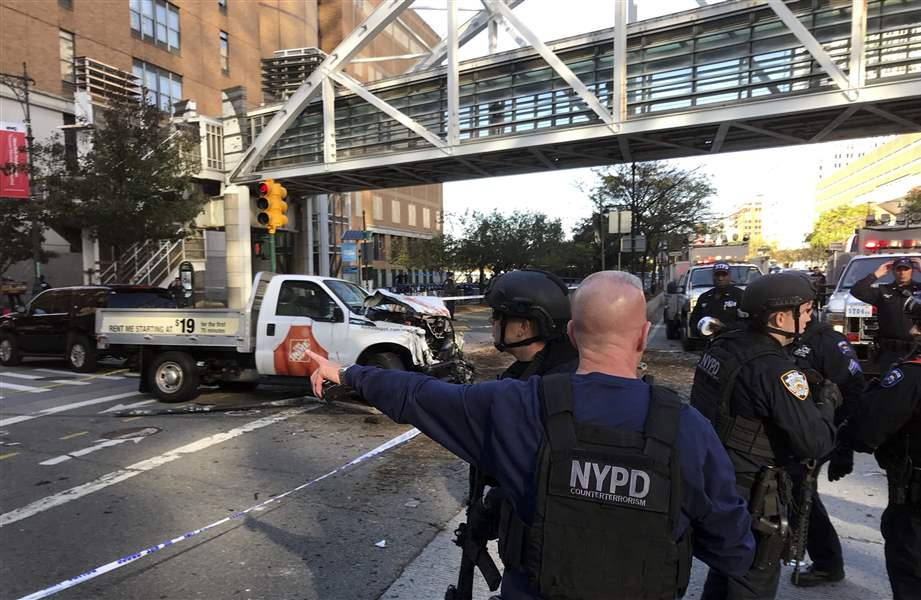 NY truck attack kills 8 in 'act of terror'