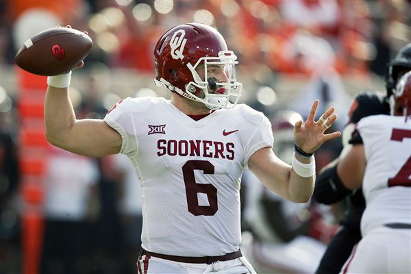 Baker Mayfield won't start, but will play Saturday's game against West Virginia