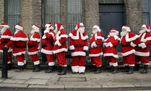 APTOPIX-Britain-Santa-School