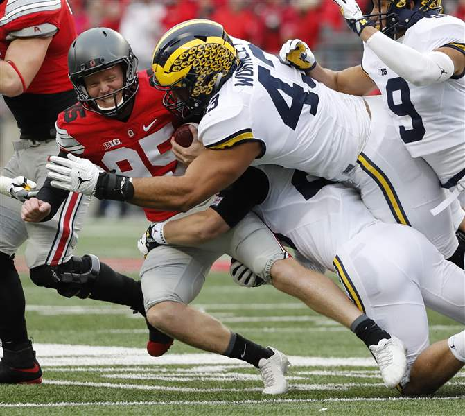 MI  football misses opportunities in 31-20 loss to Ohio State