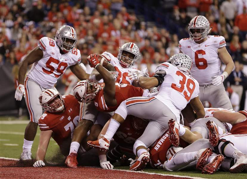 ten ohio state championship football east wisconsin divisions division change won college last delany says oklahoma win restart half defeated
