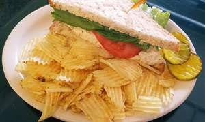Half-chicken-salad-sandwich-at-Pam-s-Corner