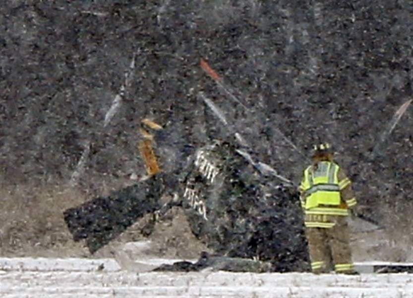 Helicopter doing work for FirstEnergy crashes, killing 2 in Northwest Ohio