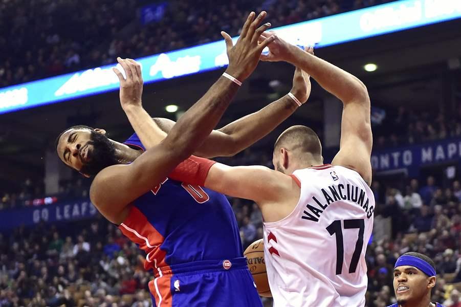 Miles leads Raptors past Pistons, 96-91