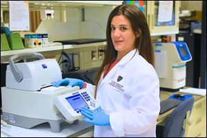 Hilda Ghadieh is a PhD graduate student at the University of Toledo College of Medicine and Life Sciences Biomedical Science Program.