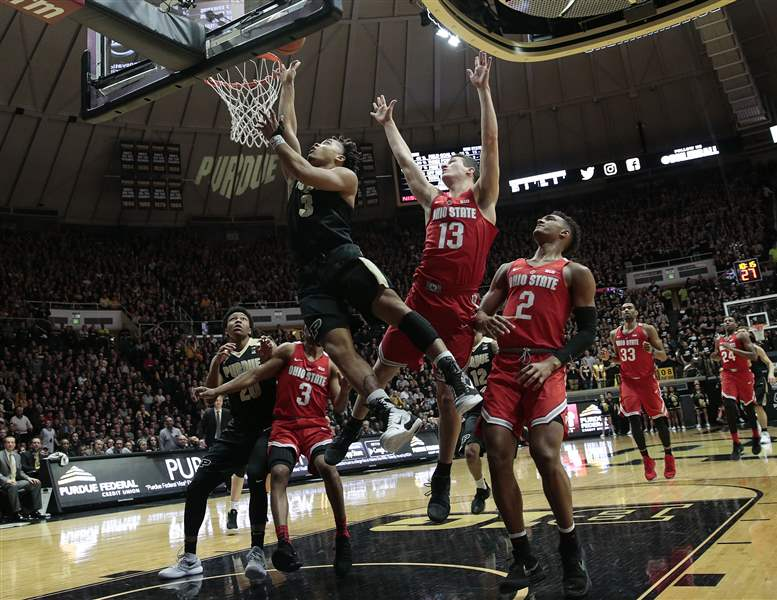 Five launch: Bridges' 3 sinks Purdue in MSU wi