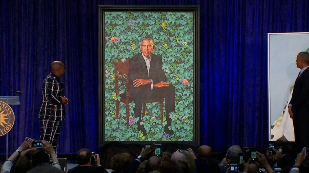 Obamas' official portraits unveiled - The Blade