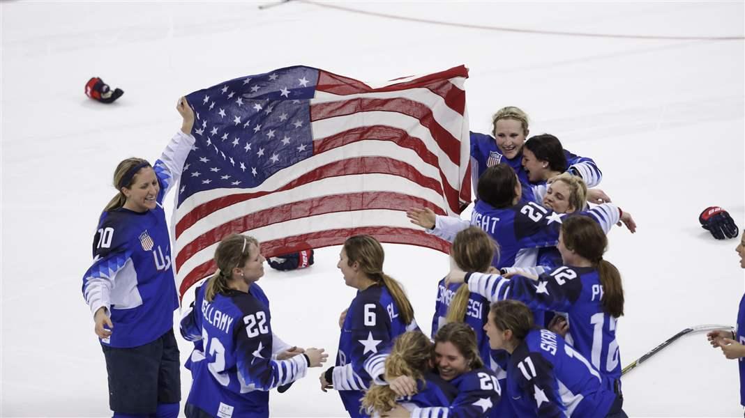 U.S. women's hockey team defeats Canada to win gold!
