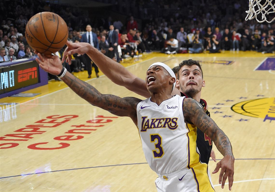 acc0a36c6856 Los Angeles Lakers guard Isaiah Thomas