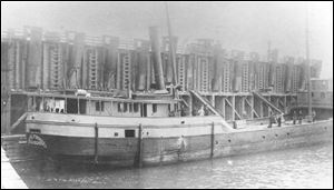 Shipwreck hunters sponsored by the National Museum of the Great Lakes have announced discovery off Lorain of a steam-powered barge that sank during a storm in 1899, killing at least eight people on board. The Margaret Olwill was hauling 900 tons of limestone from Kelleys Island to Cleveland when it wrecked.