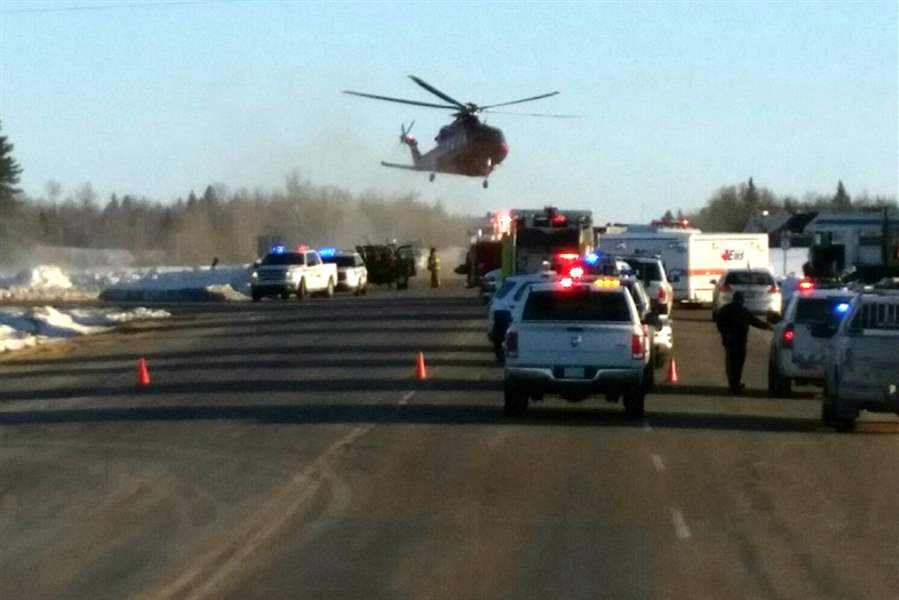 'Multiple deaths' after collision between truck and hockey team bus