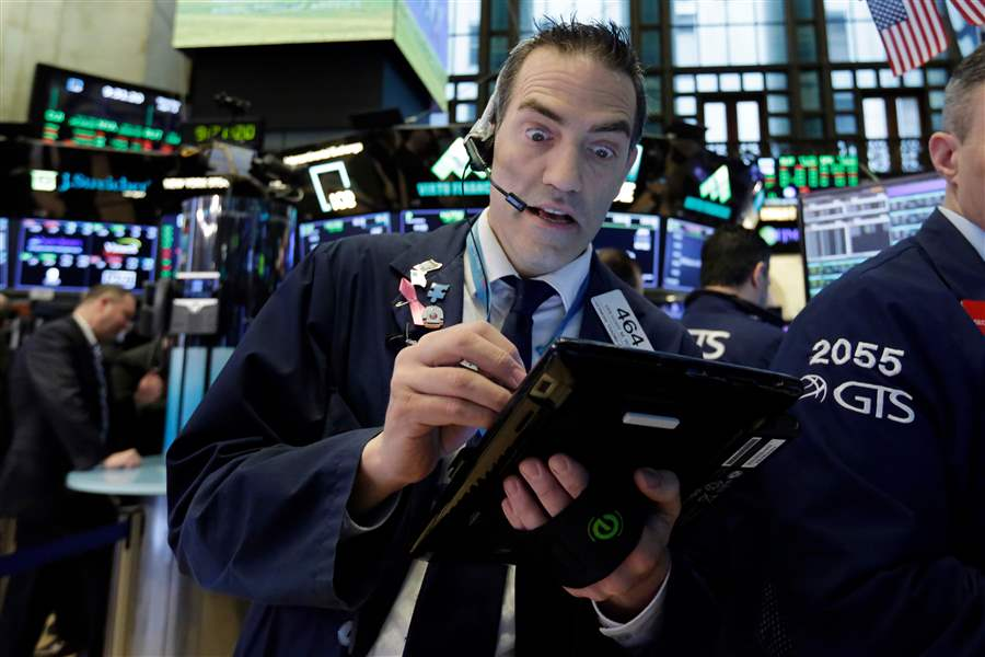 Markets Right Now: Ebbing trade worries send stocks higher