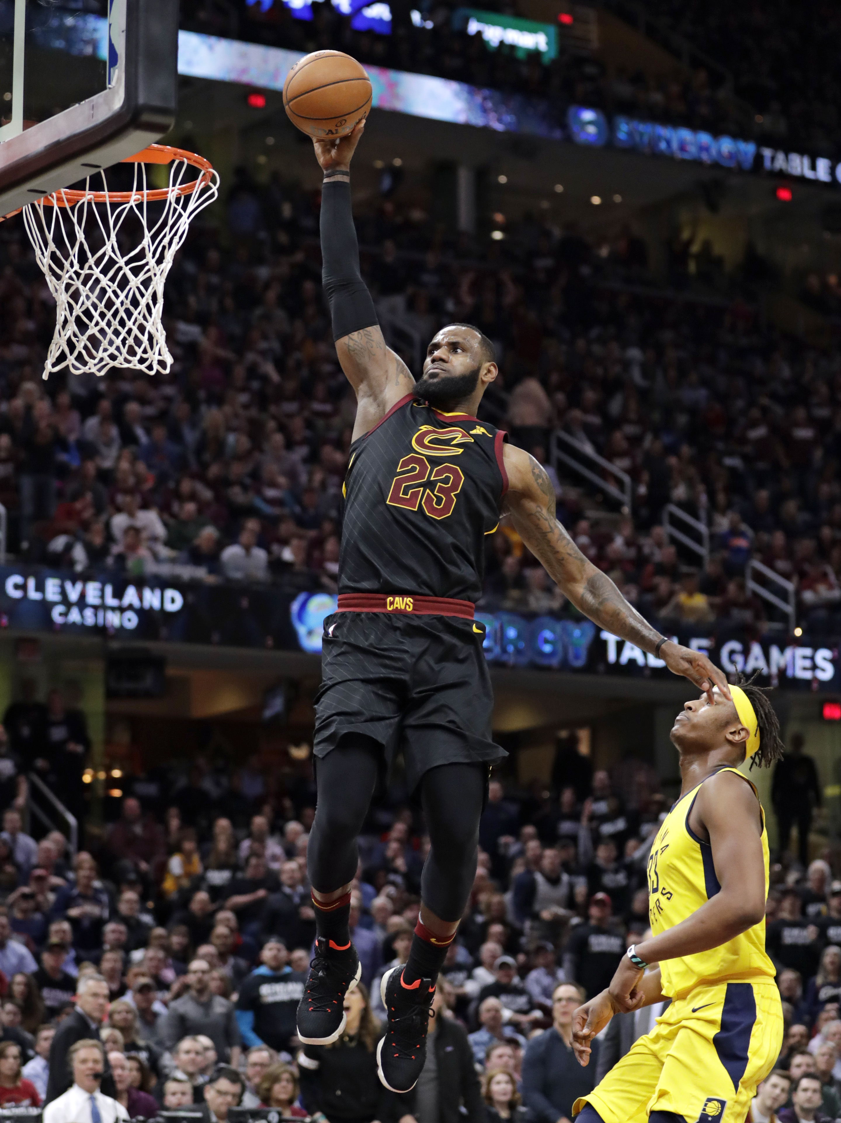 LeBron scores 46, Cavaliers hold off Pacers to even series - The Blade