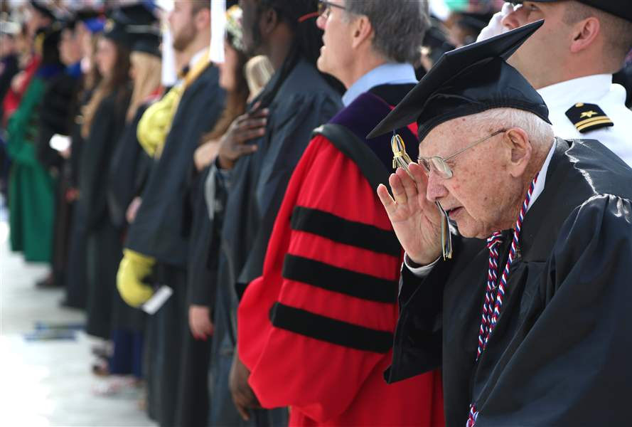 96-year-old WWII vet gets degree delayed by nearly 7 decades