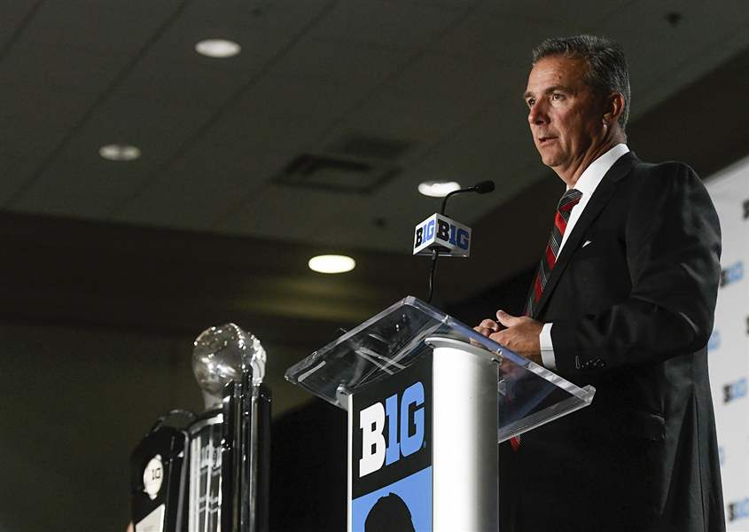 Ohio States Meyer put on leave, investigation opened