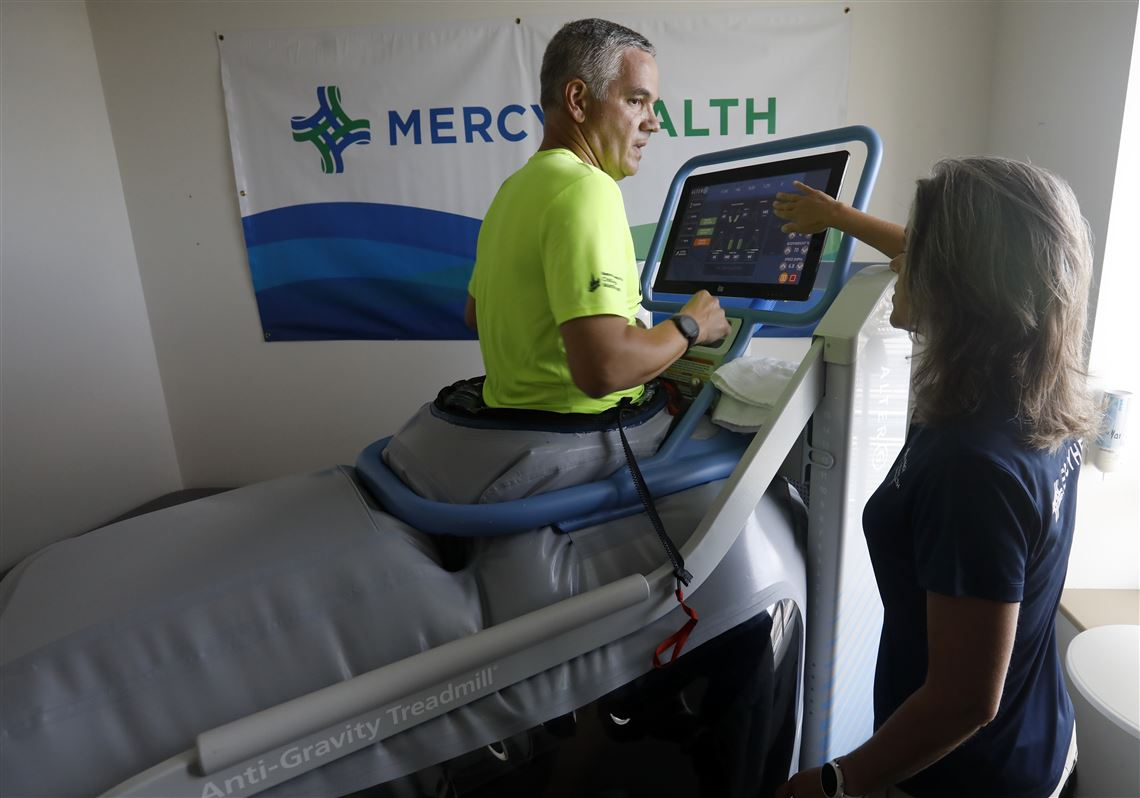 Mercy Physical Therapy >> High Tech Treadmill Off And Running At Mercy Health Facility