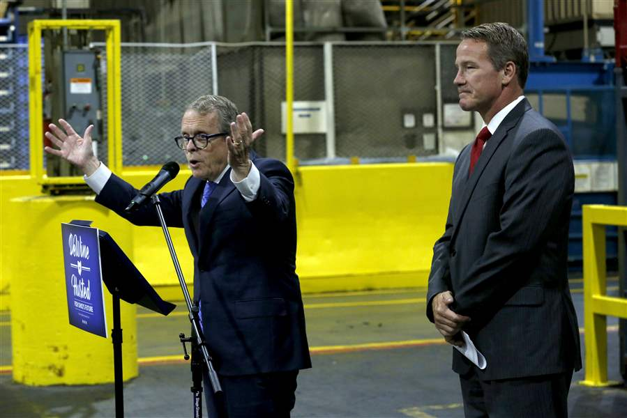Dewine Touts Job Plan At Maumee Plant The Blade