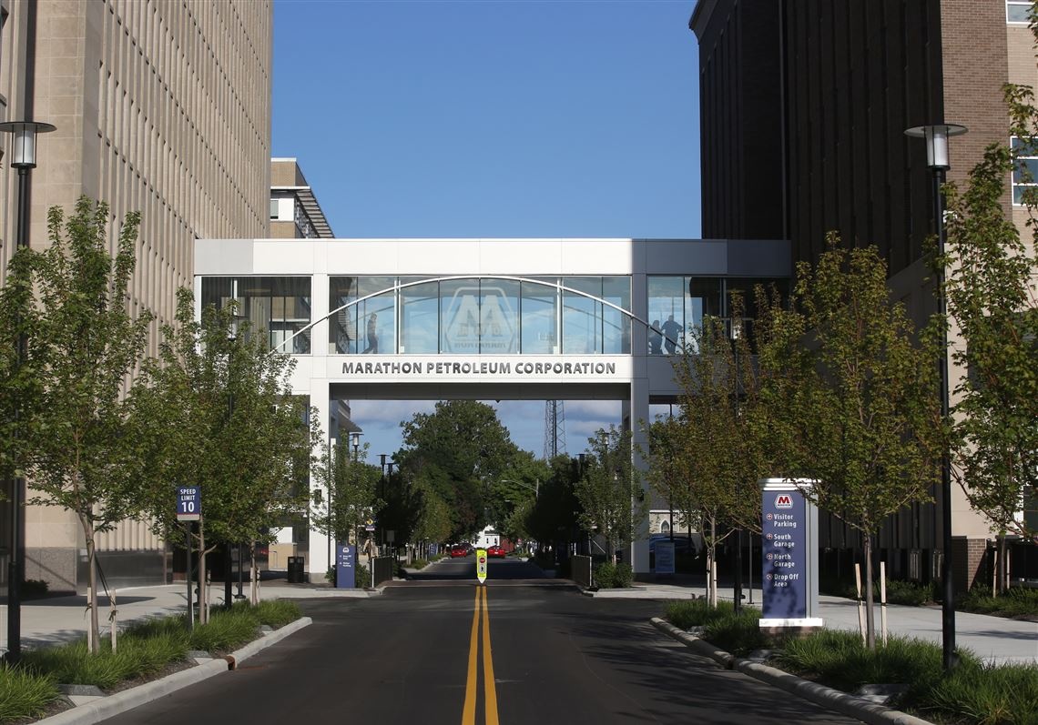 The campus of Marathon Petroleum headquarters in downtown Findlay.
