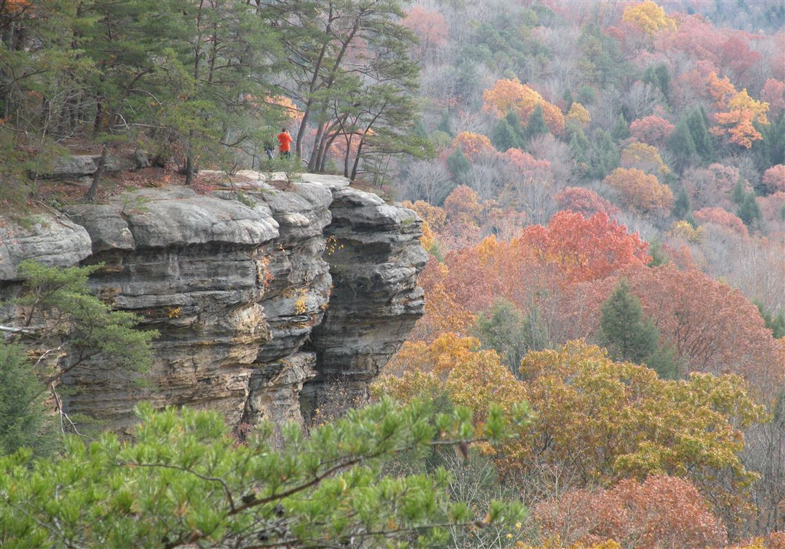 fall colors drape the landscape in ohio s scenic hocking hills