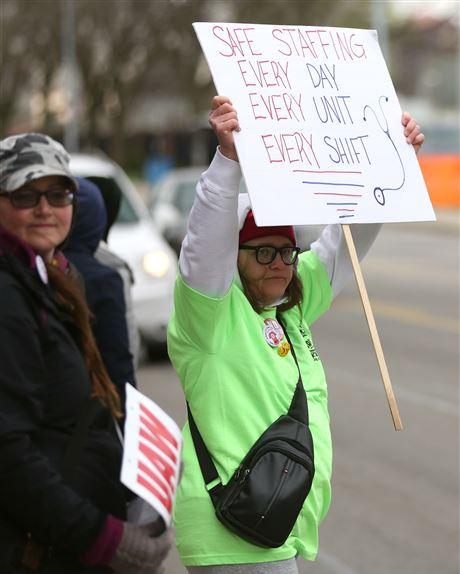 For striking nurses at St  Vincent Medical Center, it's not all
