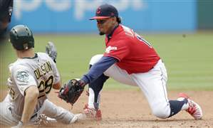 Athletics-Indians-Baseball-140